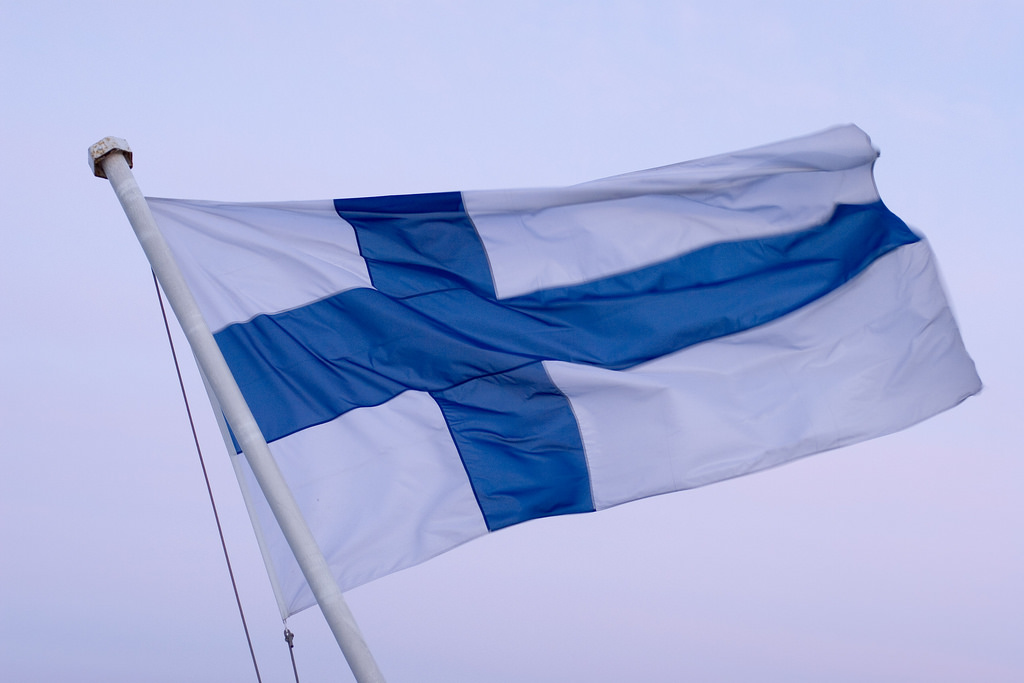 Flag of Finland. Photo: Sepi V (CC BY 2.0)