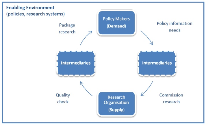 The knowledge to policy cycle